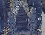 Stephansdom ohne Kreuze auf den Türmen