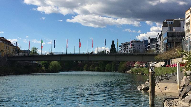Draubrücke Villach alt und neu