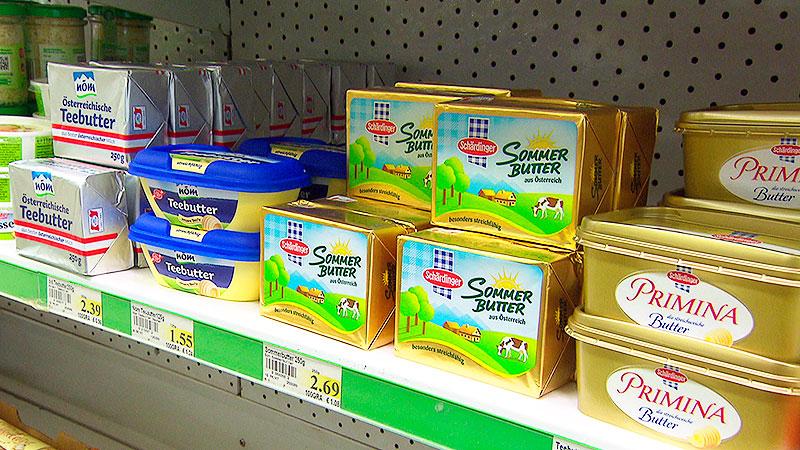 Butter, Milch, Kühe, Melken, Kälber, Butterpreis, Butterverkauf