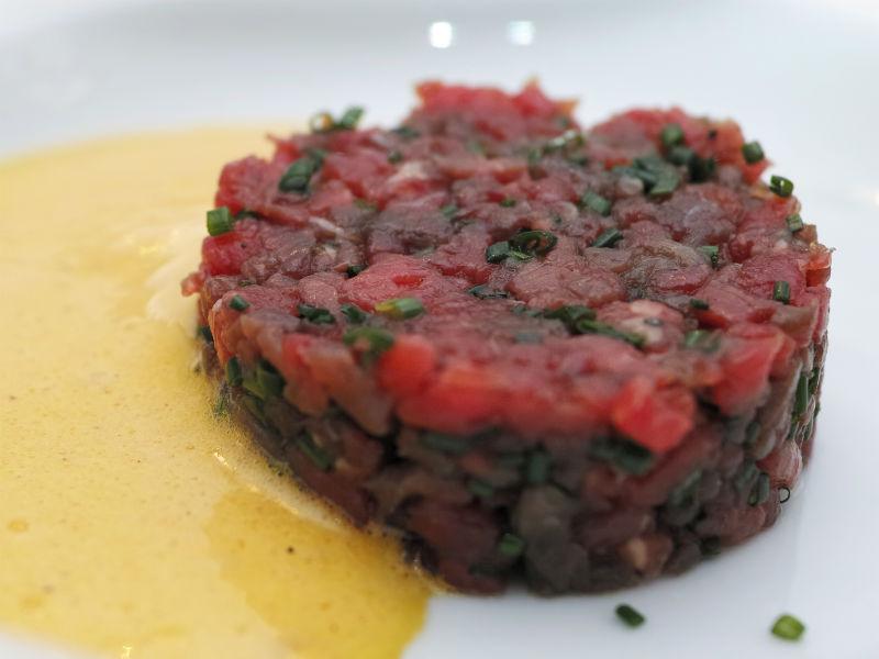 beef tatar vom Restaurant Ludwig van