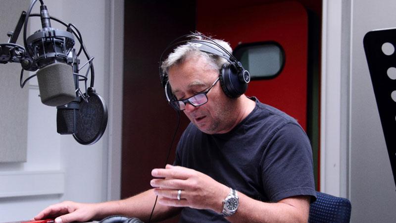 Vitasek bei der Aufnahme Studio 3 Grünmandl