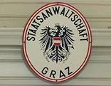 Schild der Staatsanwaltschaft Graz