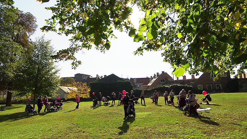 Kanga-Training im Schlosspark