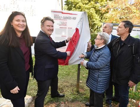 Gemeindebaubenennung nach Rudolf Sarközi