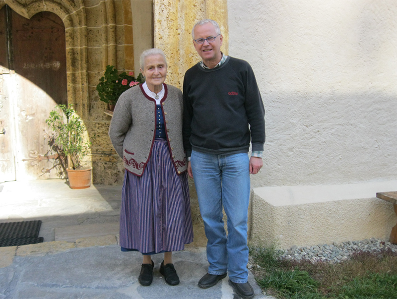 Leonhardsmesnerin Marianne Resch und ORF-Redakteur Gerhard Jäger