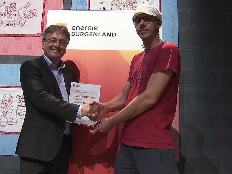 Michael Gerbavsits und Literaturpreisträger Bernhard Strobl