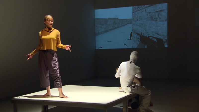 Johanna Prosl auf der Bühne