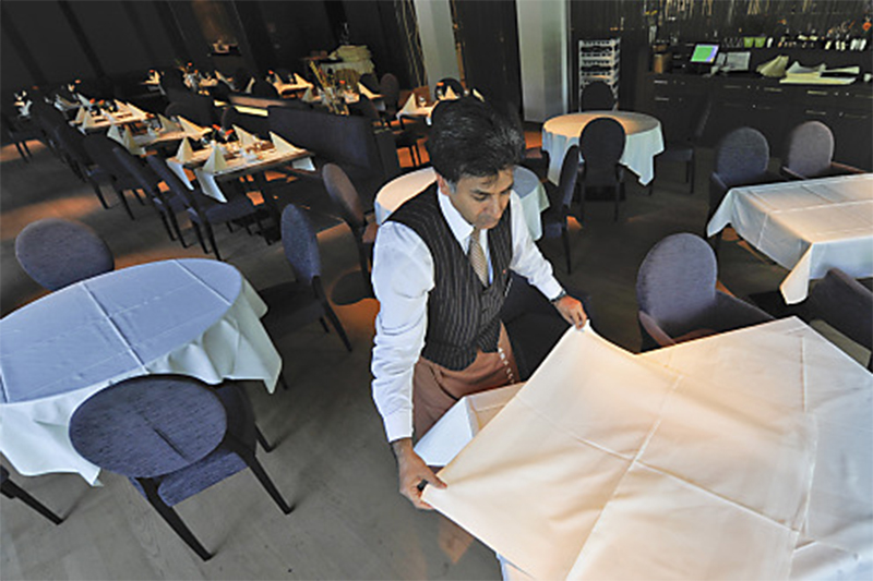 Restaurant Kellner Tische
