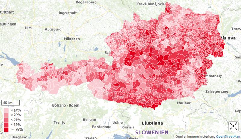 Hier holte die SPÖ ihre Stimmen