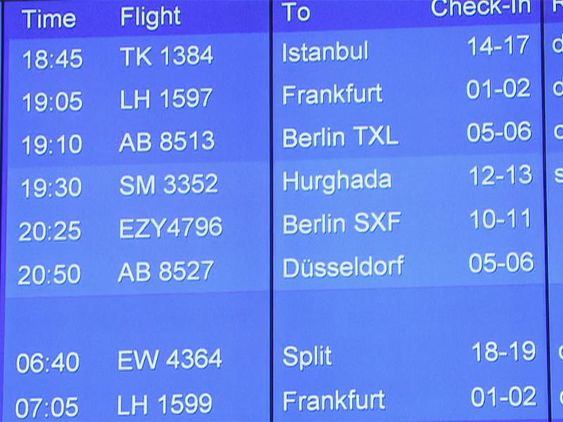 Letzte Flüge von Air Berlin