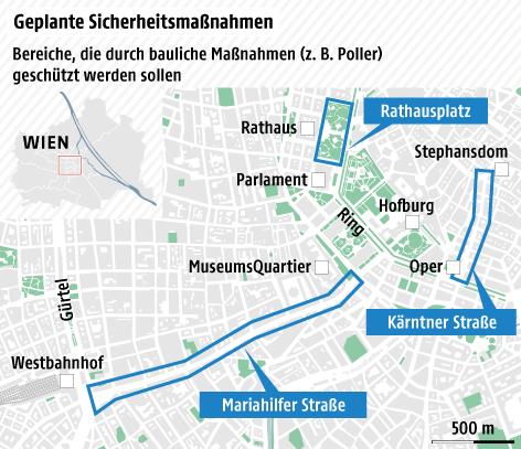 Grafik zu geplanten Sicherheitsmaßnahmen in Wien