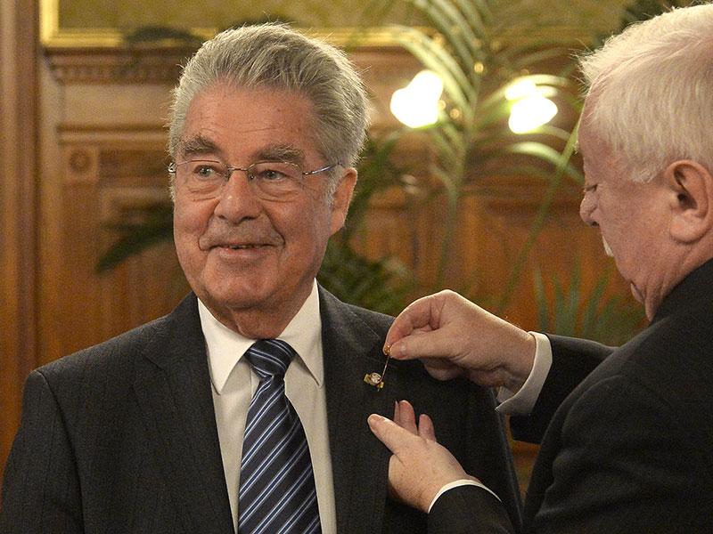Heinz Fischer wird Ehrenbürger von Wien