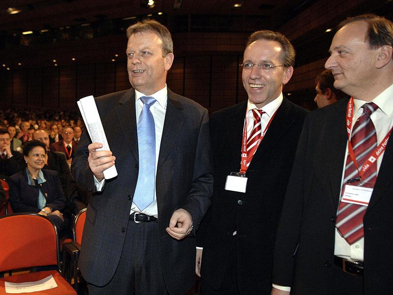 Wilhelm Haberzettl,  Rudolf Kaske und Willibald Steinkellner