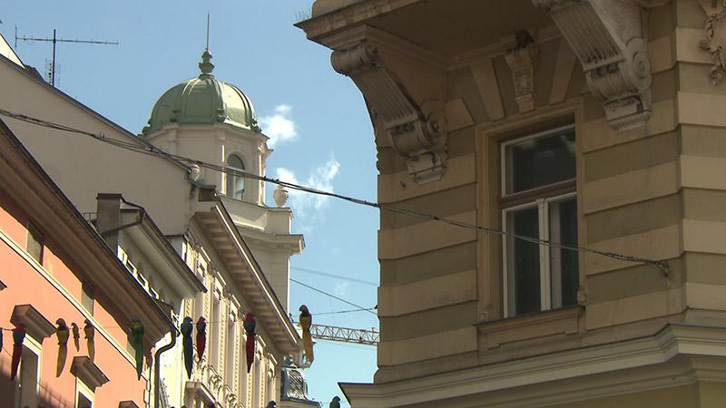 Klagenfurt 500 Jahre Wappensaal Stadthäuser