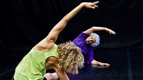 Cuhorka Emese és Fahidi Éva a Sóvirág c. előadáson
