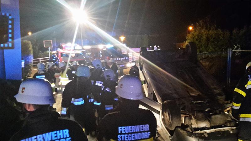 Unfall Maria Saal Auto gegen Haus
