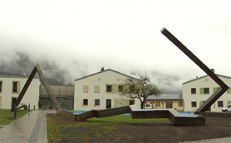 Kunstwerk Schloss Oberrain in Unken