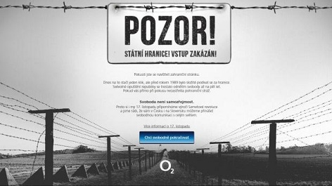 Internetová kampaň mobilního operátora k příležitosti 17. listopadu