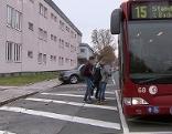 Bus Haltestelle Bachmann Gymnasium Koschatstraße Gefahr
