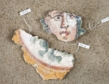 Römische Wandmalerei aus Enns