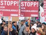 Demo Linz Landhaus Sparpläne