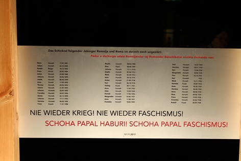 Gedenktafelenthüllung f.d. Roma in Jabing