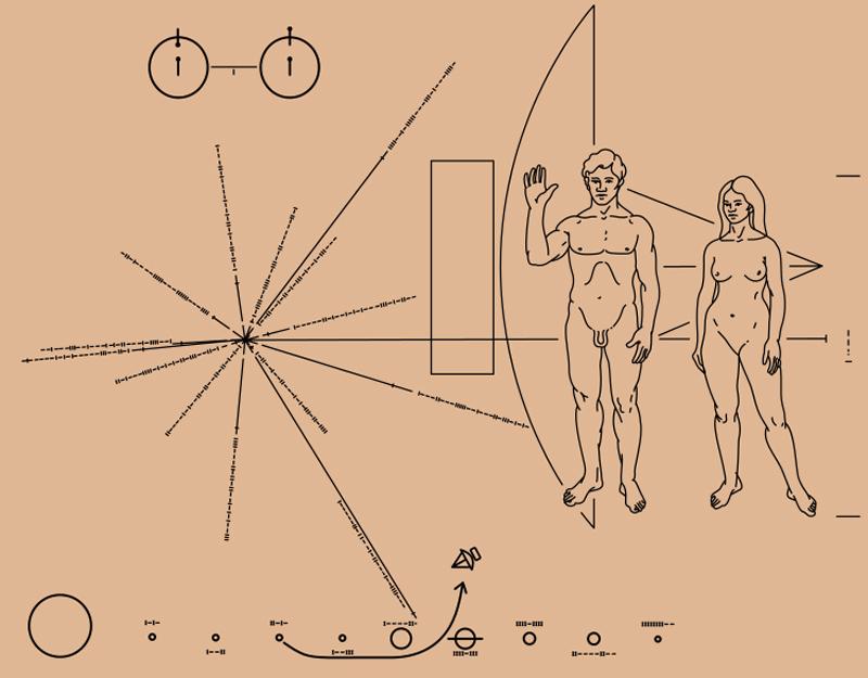 Pioneer Plakette