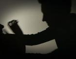 Gewalt gegen Frauen - gestellte Szene