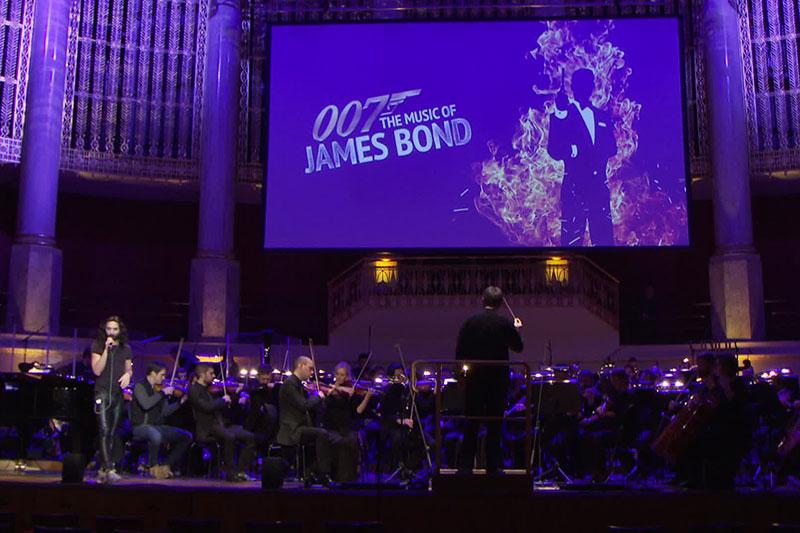 Probe für die Bond-Gala im Konzerthaus