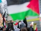 Demo gegen Jerusalem als Hauptstadt bei US-Botschaft