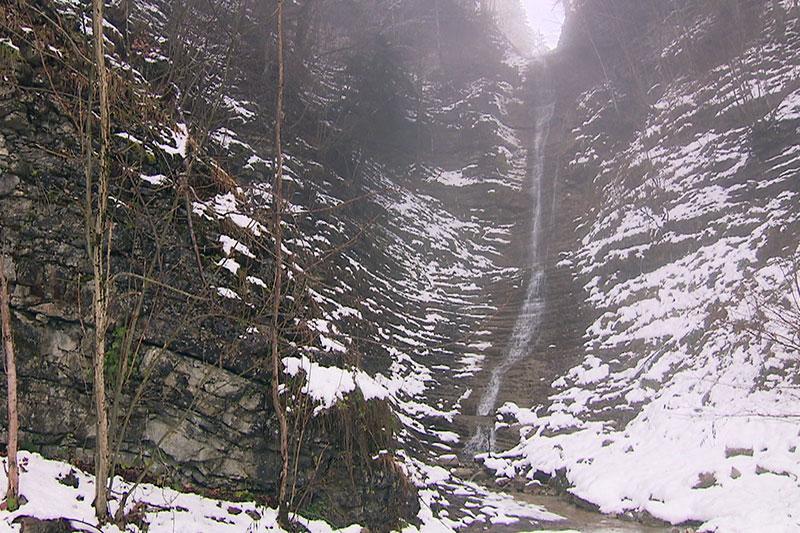 Wasserfall in der Kühschwalb bei Kuchl (Tennengau)