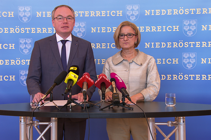 Pressekonferenz Pernkopf Mikl Leitner