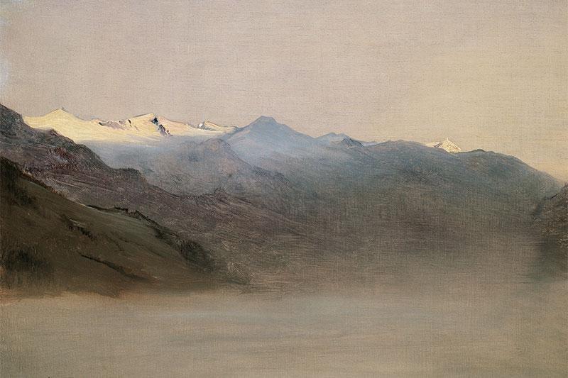 Anton Romako, Das Gasteinertal im Nebel, 1877