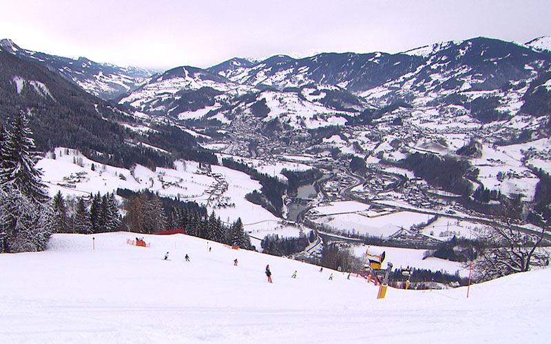 Skigebiet gut besucht