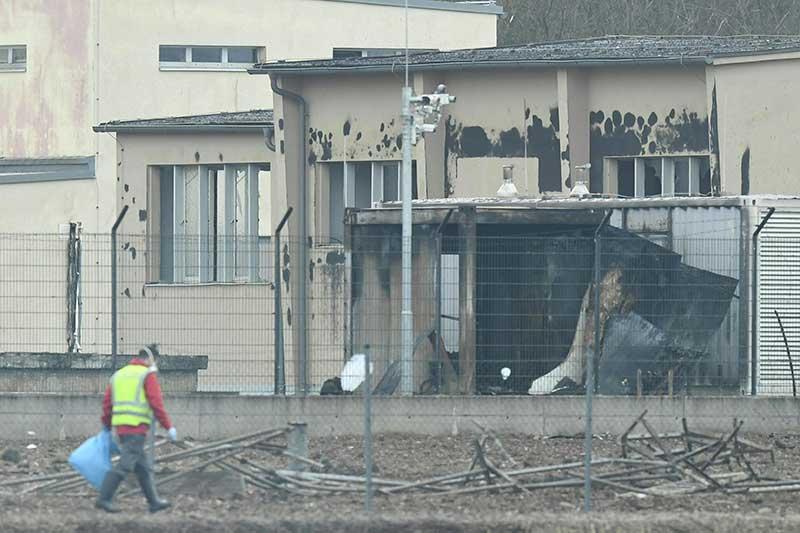 Explosion in der Gasstation in Baumgarten a.d. March