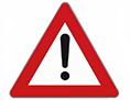 Alarm svarilo ceste Borovlje