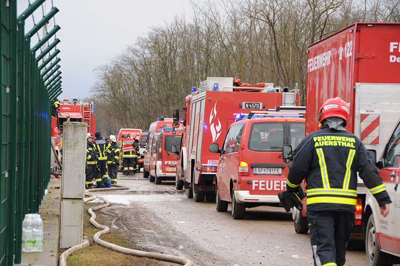 Explosion in der Gasstation in Baumgarten
