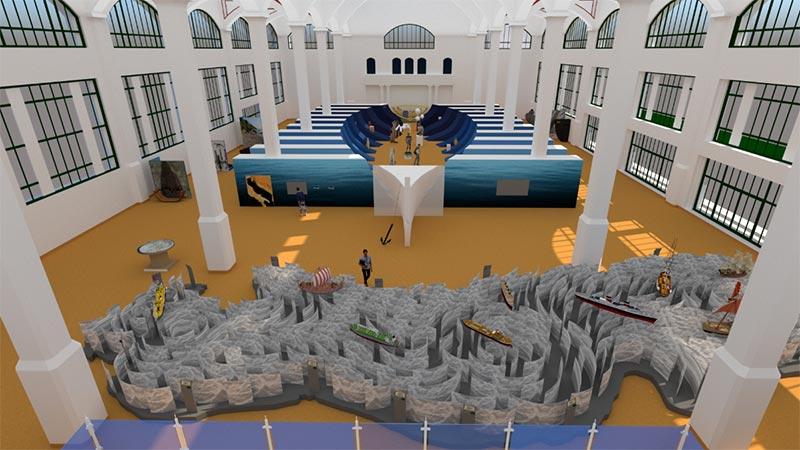 Römisches Schiff Triest Ausstellung
