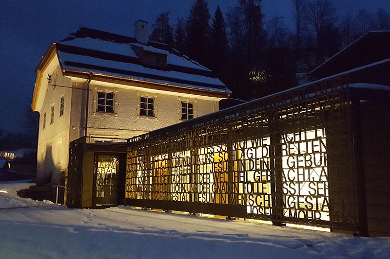 Das Stille Nacht Museum in Wagrain im Schnee