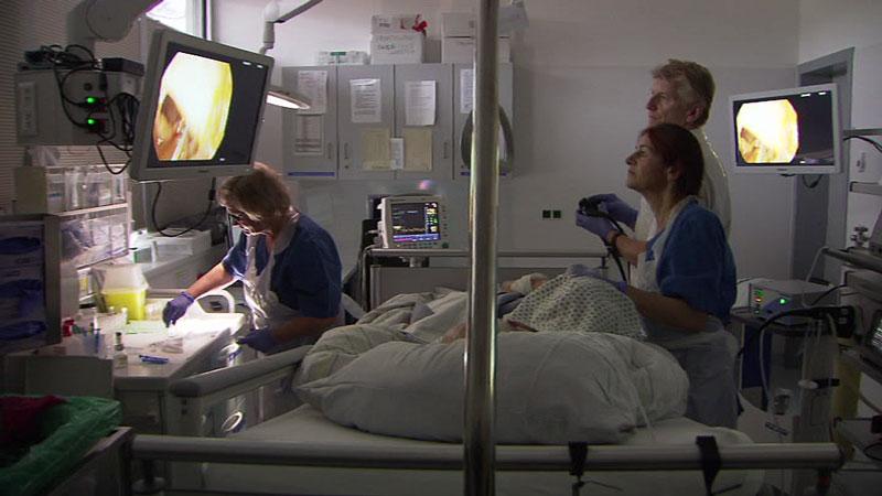 Darmkrebs-Vorsorge, Krankenhaus, Untersuchung