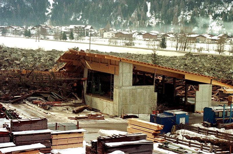 Erdrutsch in Huben 1999