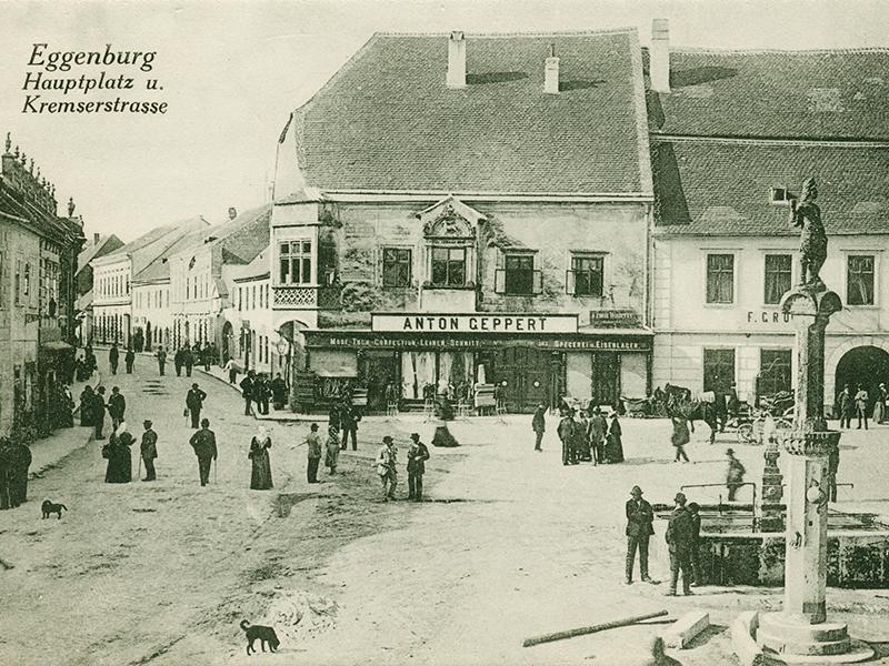 Eggenburg schwarz weiß Foto Datierung unbekannt