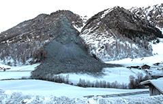 Felssturz in der Tiroler Gemeinde Vals