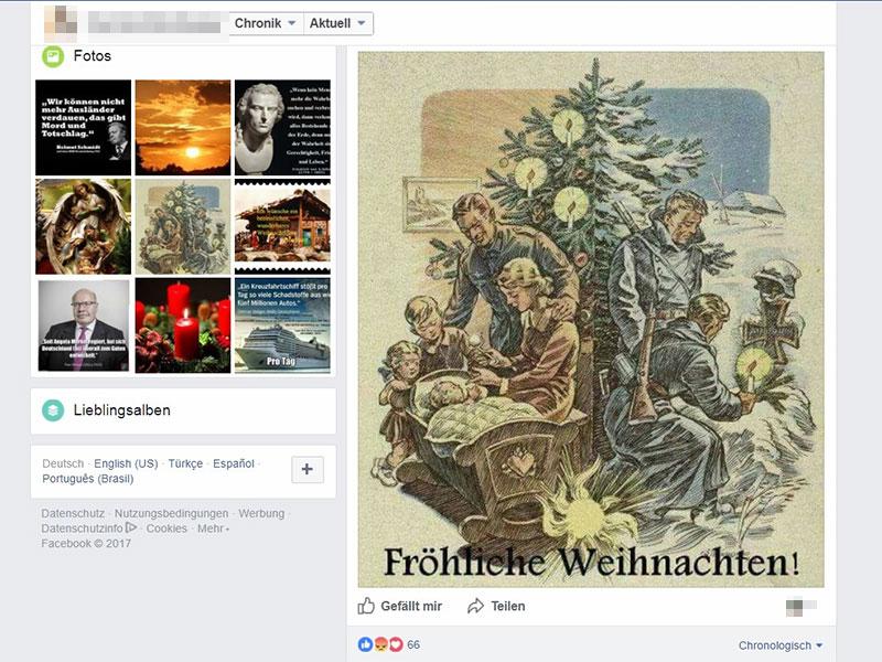 NS Weihnachtsgrüße FPÖ Mandatar