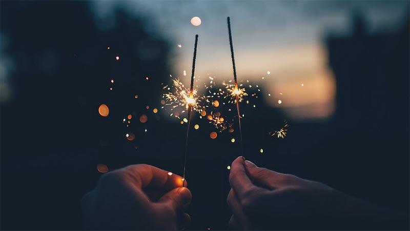 Feuerwerk Sternspritzer Silvester