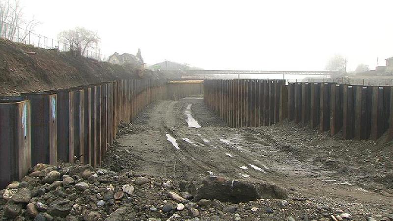 Murkraftwerk-Baustelle