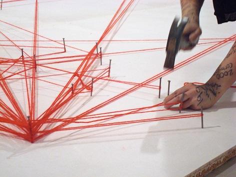"""Performance Installation """"Work in Progress - Personal Map"""" von Nezaket Ekici"""