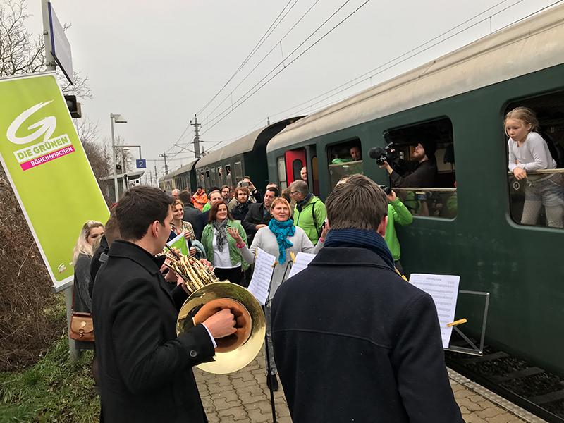 LTW Wahl 18 Grüne Wahlkampfauftakt Zug St. Pölten