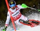 Marcel Hirscher beim Slalom (In Adelboden)