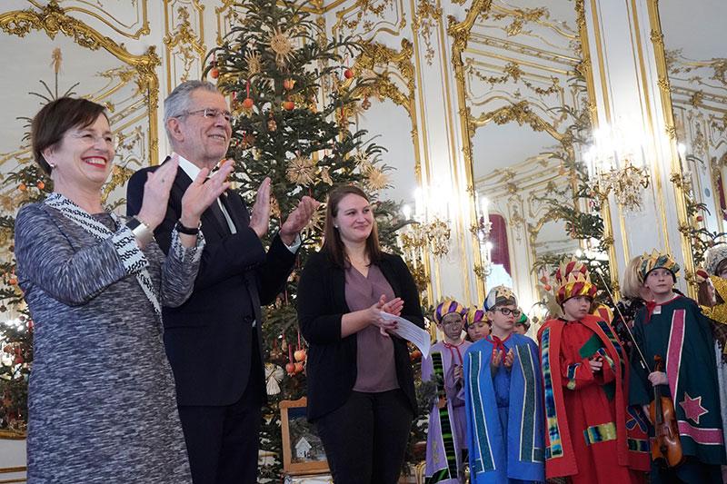 Die Hl. Drei Könige bei Bundespräsident Alexander Van der Bellen